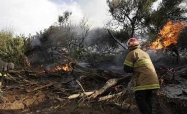Un coto de caza arde en llamas