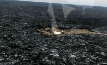 El gran incendio en la zona de El Carancho y General Acha quemó parte de la cabaña Curacó