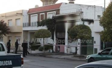 Se incendió una FM en Suárez