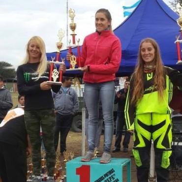 Lorena Sabo hizo podio en el Pampeano de Motocross