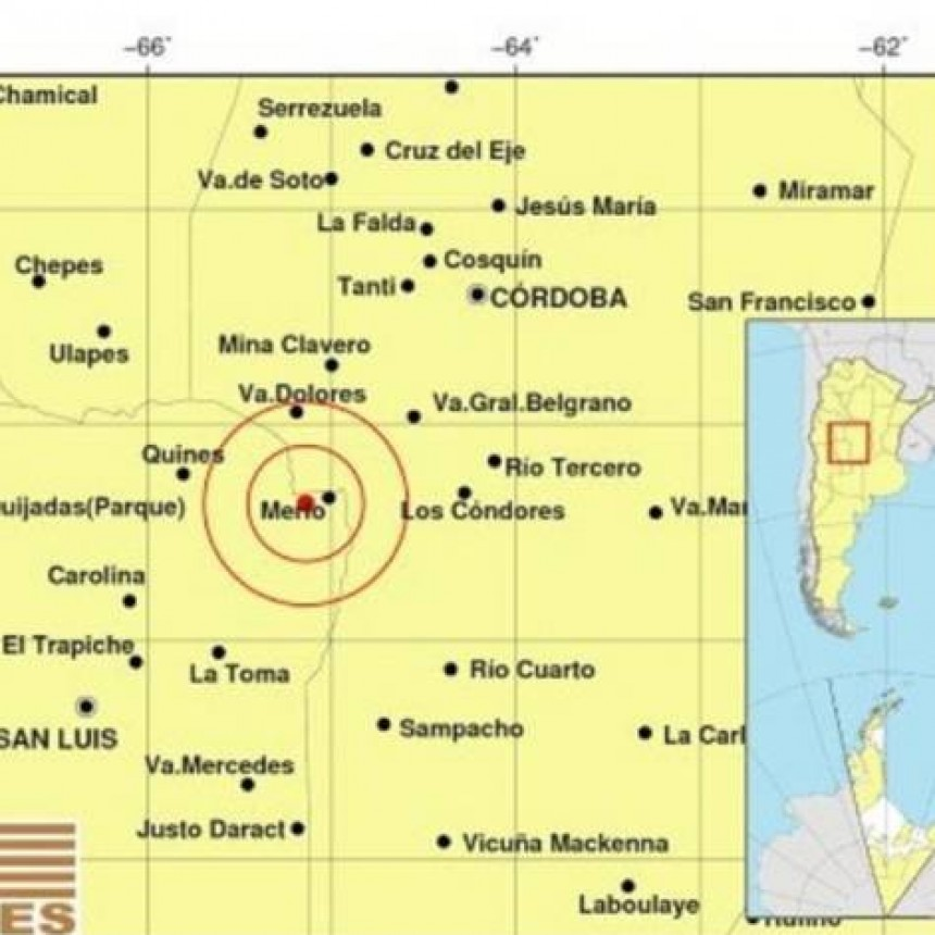 Un sismo sacudió Villa de Merlo