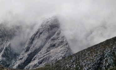 NEVADAS. Las cumbres en Sierra de la Ventana y la tonalidad blanca
