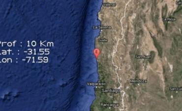 Hubo un fuerte terromoto en Chile