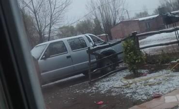 Nevó en la localidad de La Humada