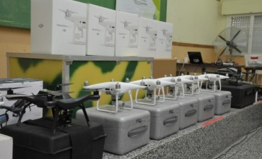 Se desarrolló la parte práctica de la capacitación sobre los drones