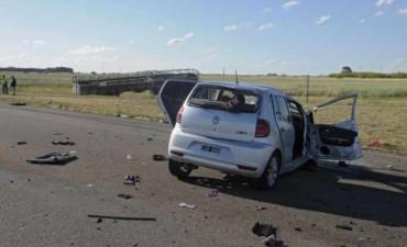 Tres muertos en dos accidentes de tránsito en rutas pampeanas