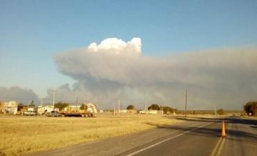 El incendio en el Parque Nacional Lihué Calel está descontrolado