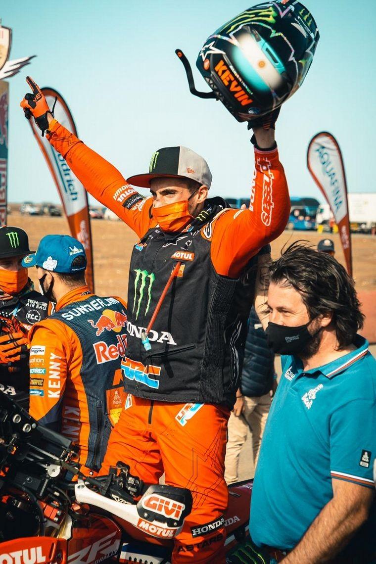 Kevin Benavides se quedó con el Dakar en motos