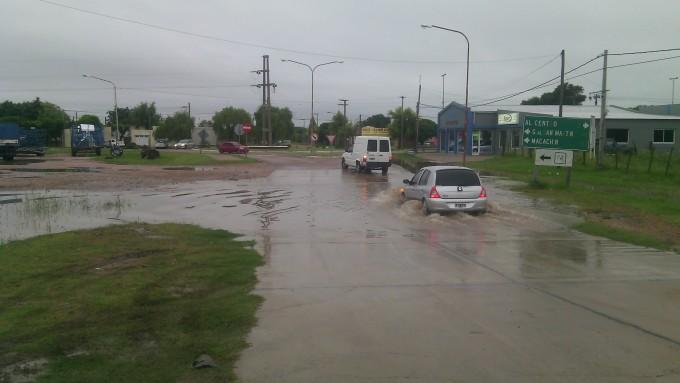 Torrencial lluvia en Santa Rosa: 56,4 milímetros