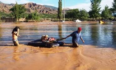 500 evacuados por el desborde del Río Grande en Tilcara