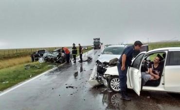 ACCIDENTE FATAL. Una mujer y su hija perdieron la vida en la Ruta 33