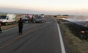 Un trágico accidente se produjo en la Ruta 33 a las 19:50