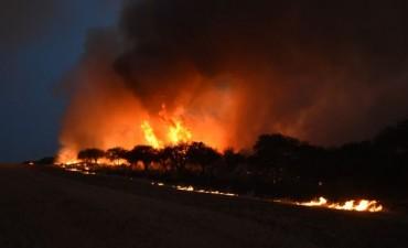 Un nuevo foco de incendio en Toay