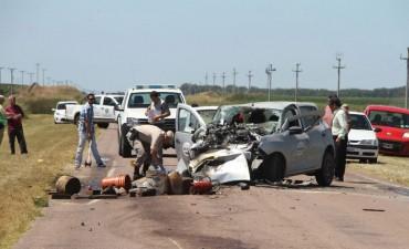 Un muerto y tres heridos graves en la ruta provincial 2
