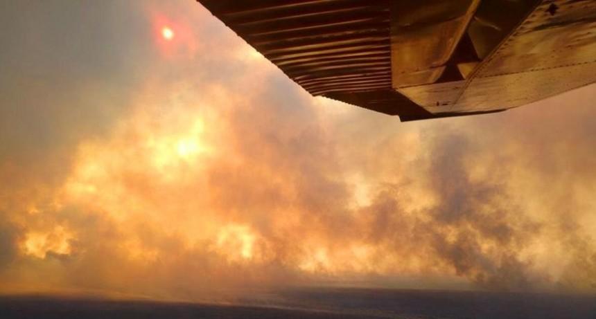 Las tormentas iniciaron incendios en cercanías de Lihué Calel y Cuchillo Co