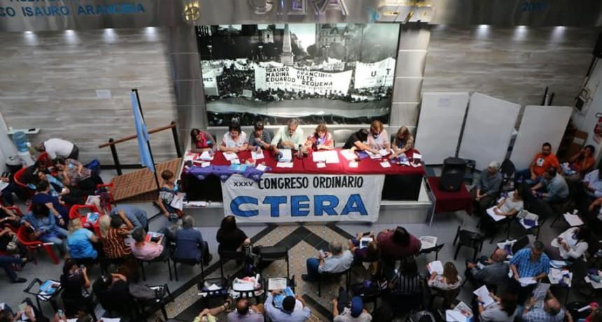 CTERA anunció un paro de 72 horas