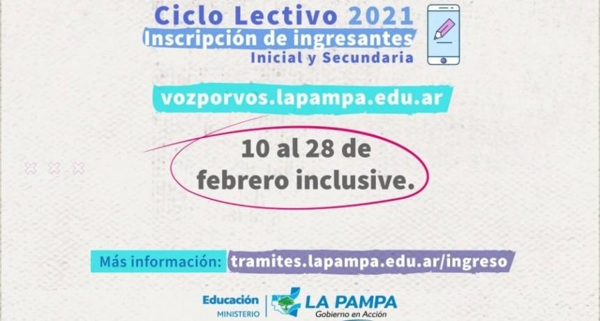 Ingresantes a Inicial y Secundaria 2021