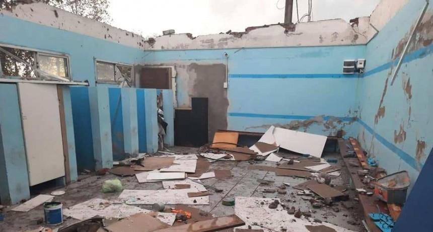 El Club Unión Deportiva Campos de General Acha sufrió grandes destrozos por la tormenta