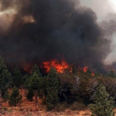 Incendio en Chubut
