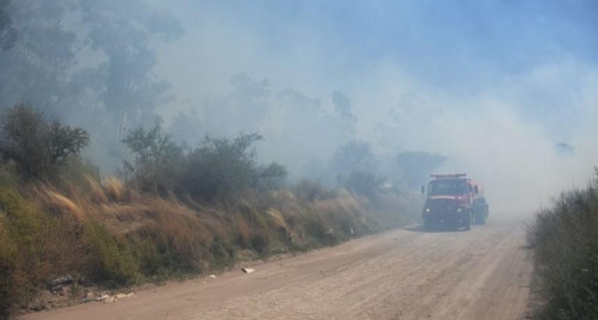 Se desató un incendio cerca de La Malvina