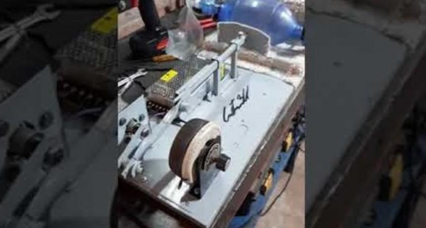 Joven de Guatraché La Pampa Fabrica un respirador casero