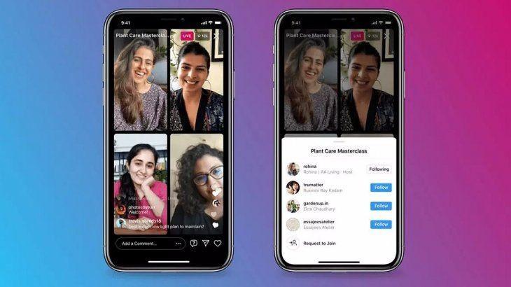 Más participantes podrán ahora participar de los vivos de Instagram