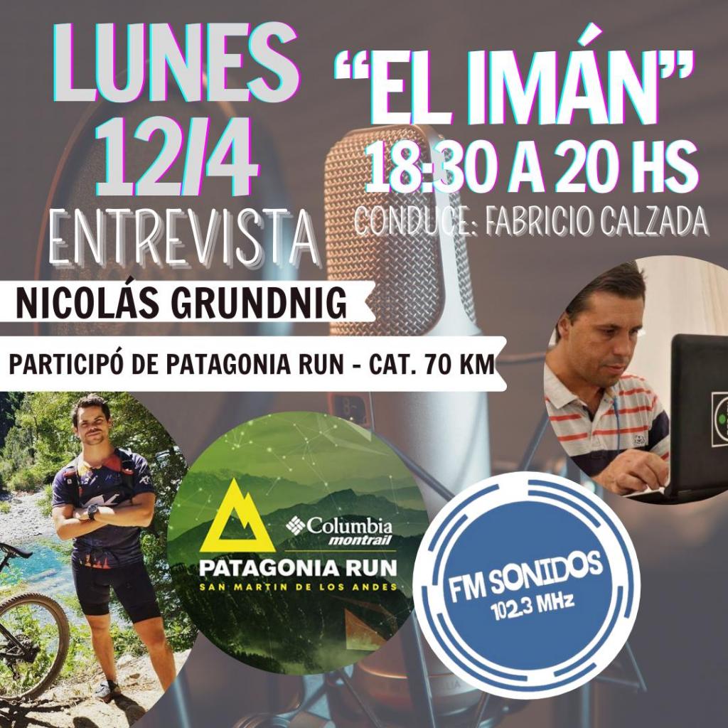 El atleta guatrachense Nicolás Grundnig y su participación en la Ultra Maratón de Montaña