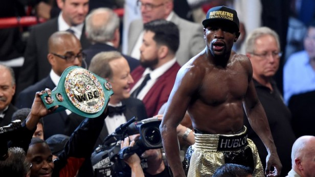 Floyd Mayweather derrotó a Manny Pacquiao