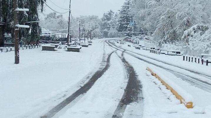 Las fotos de la nieve en La Pampa