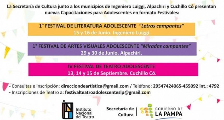 Se vienen los Festivales Campamentos de Literatura, Artes Visuales y Teatro para adolescentes