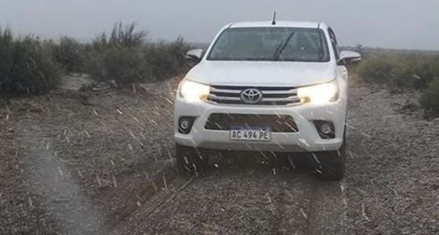 Nevó en campos del oeste de La Pampa