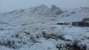 Comenzó a nevar en el Cerro Champaquí de Córdoba