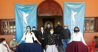 Vestidos de época vacunan contra el Covid-19 en el nodo de Concepción