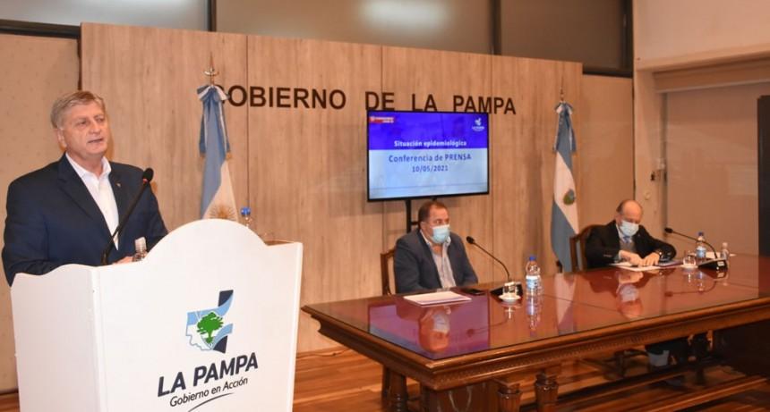Ziliotto anunció nuevas medidas restrictivas hasta el 25 de mayo en toda La Pampa