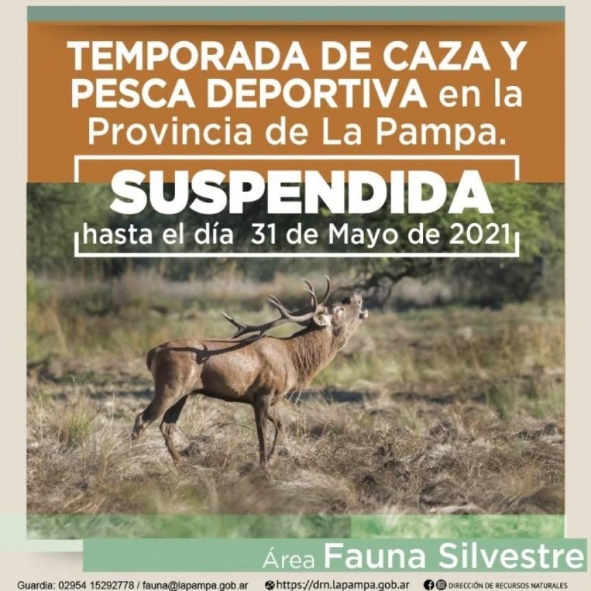 Se suspende la Caza y Pesca Deportiva en La Pampa