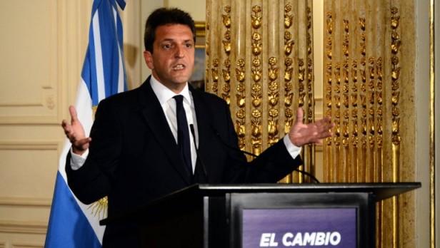 El líder del Frente Renovador brindó un discurso desde Tigre