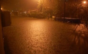 Se inundó Mechita y los vecinos reclaman obras