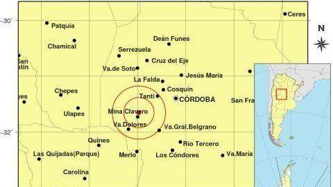 Un sismo sacudió Córdoba y Mendoza