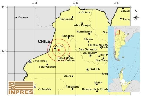 Un sismo sacudió a la provincia de Jujuy