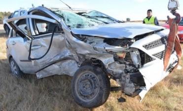 Accidente en cruce de ruta 1 y 14 cerca de Miguel Riglos