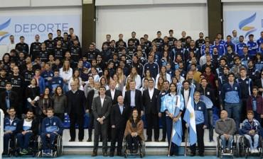 Mac Allister y Macri saludaron a los deportistas que competirán en los Juegos Olímpicos