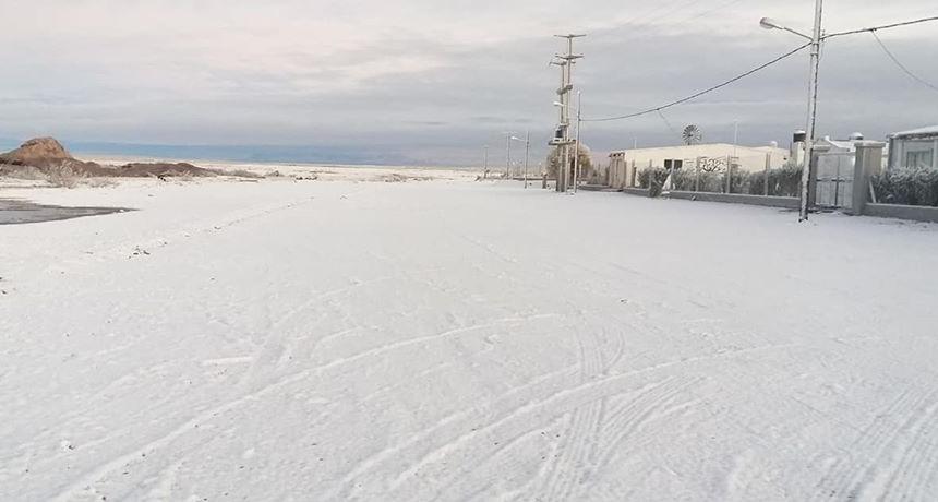 Nieve en La Pampa, esta vez en Chos Malal