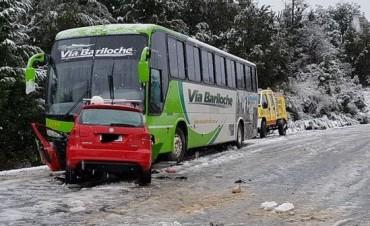 El corredor de TC fue trasladado al Sanatorio San Carlos de Bariloche con un traumatismo de cráneo