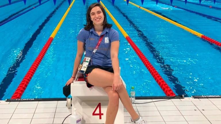 Ana Luz Pellitero obtuvo un diploma paralímpico tras la final de 100 metros espalda de natación