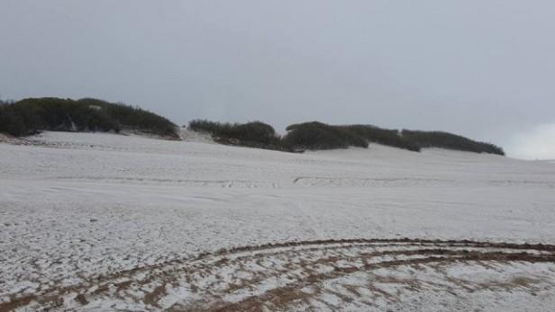 Nevó en Tres Arroyos y Necochea