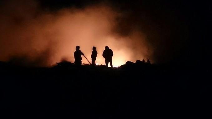 Incendio en el Relleno Sanitario de Santa Rosa