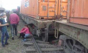 Un tren carguero descarriló en la estación de Sierra de la Ventana