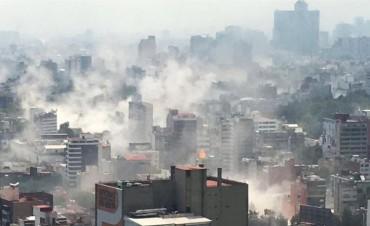 Un sismo de 7,1 grados sacudió a México