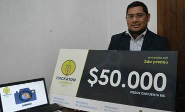 El bahiense César Riat obtuvo días atrás el segundo premio de la Hackatón Agro 2017