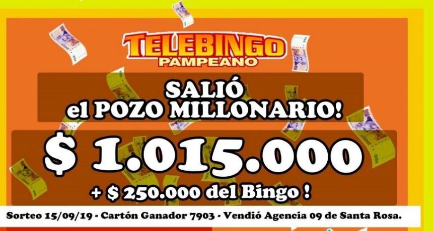 Salió el pozo millonario de Telebingo Pampeano